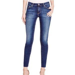 AG The Legging Super Skinny Ankle Raw Hem Jeans